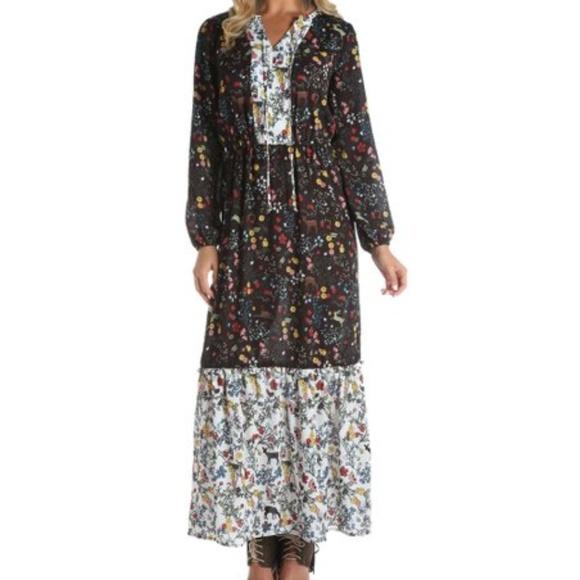 6a60b7808176 Wrangler Dresses   Prairie Boho Festival Maxi Dress Size M   Poshmark